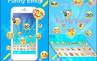 Funny emoji for kika keyboard