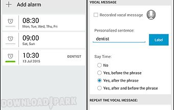 Talking alarm clock profree