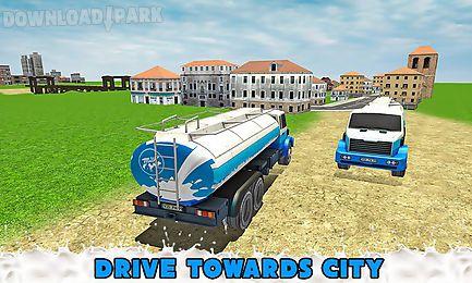 transport truck milk delivery