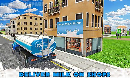 transport truck milk delivery