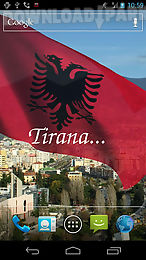3d albania flag live wallpaper