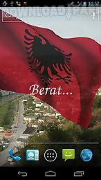 3d albania flag live wallpaper