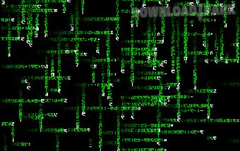 Matrix effect live wallpaper