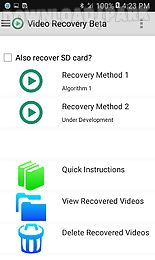 Video Recovery Beta Android App Free Download In Apk