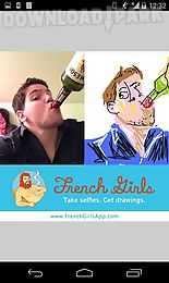 french girls drawing viewer