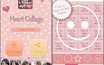 Heart collage-body symbol