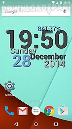 digi clock live wallpaper