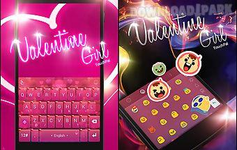 Touchpal magic love girl theme