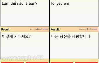 Vietnamese korean translator