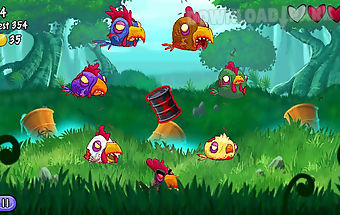 Zombie chickens - monster cut