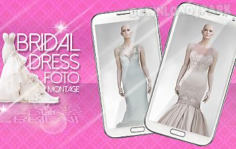 Bridal dress photo montage