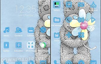 Cutebear-apus launcher theme