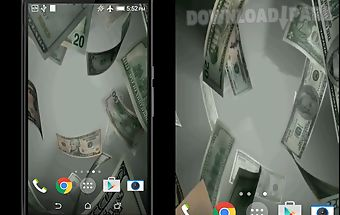 Flying dollars live wallpaper