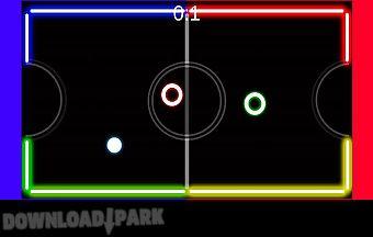 Neon table hockey