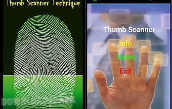 Thumb scanner technique