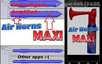 Air horn max! amped air horns