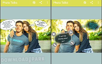 Photo talks: speech bubbles