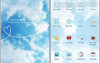 Cute theme-sky above-
