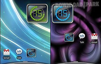 Digital battery widget