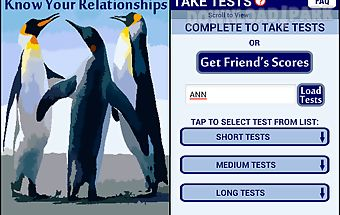 Know your relationships tests