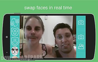 Live video face swap