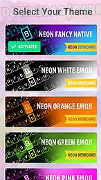 emoji keyboard - colorful neon