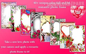 Romantic love photo collage