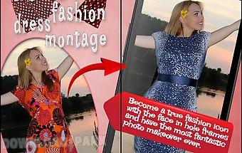 Women dress photo montage