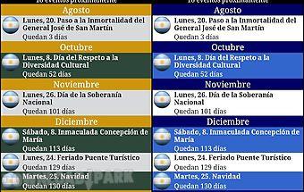 Calendario feriados argentina