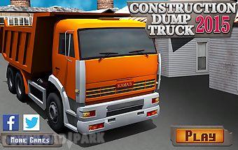Construction dump truck 2015