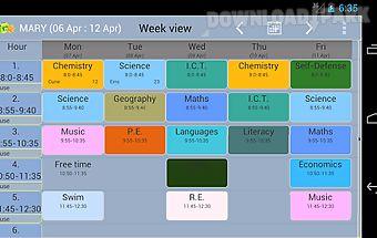 Family timetable