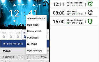 Rock alarm clock