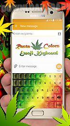rasta colors emoji keyboard