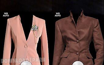 Women suit photo montage