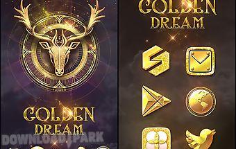 Golden dream go launcher theme