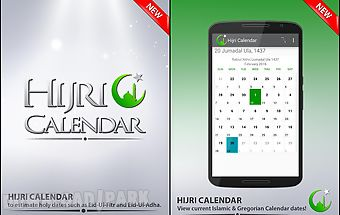 Hijri calendar with widget