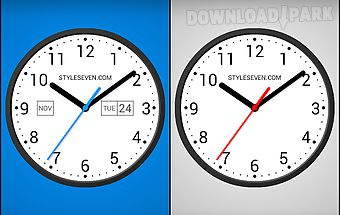 Skin analog clock-7 Android App free download in Apk