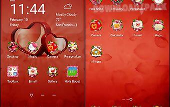 my valentine hola theme - Valentine Apps
