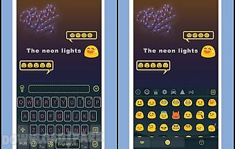 Neonlight theme emoji keyboard