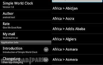 Simple world clock
