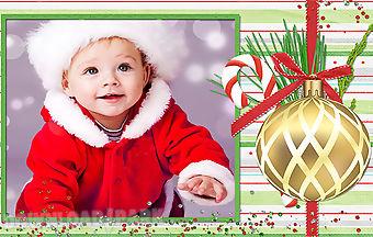 Winter christmas photo frames