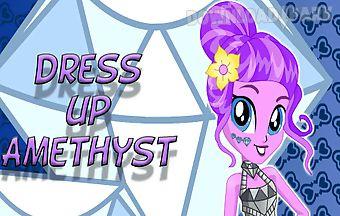 Dress up amethyst pony
