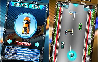 Highway speed racing car rush