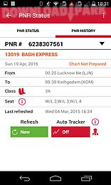 Indian rail irctc and train pnr Android App. Free Apk Files » Travel Apps