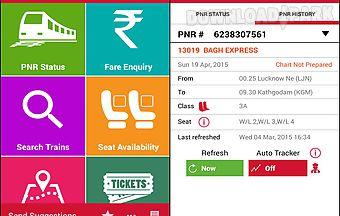 Indian rail irctc and train pnr