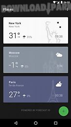 weather timeline - forecast total