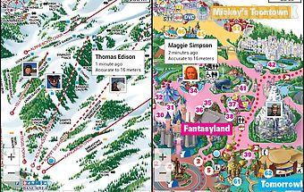 Gps on ski map
