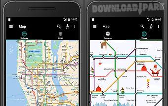 New york subway mta map (nyc)