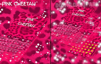 Pink cheetah go keyboard