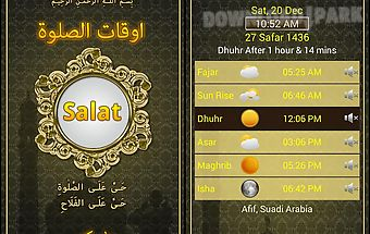 Prayer times:azan,qibla,salah